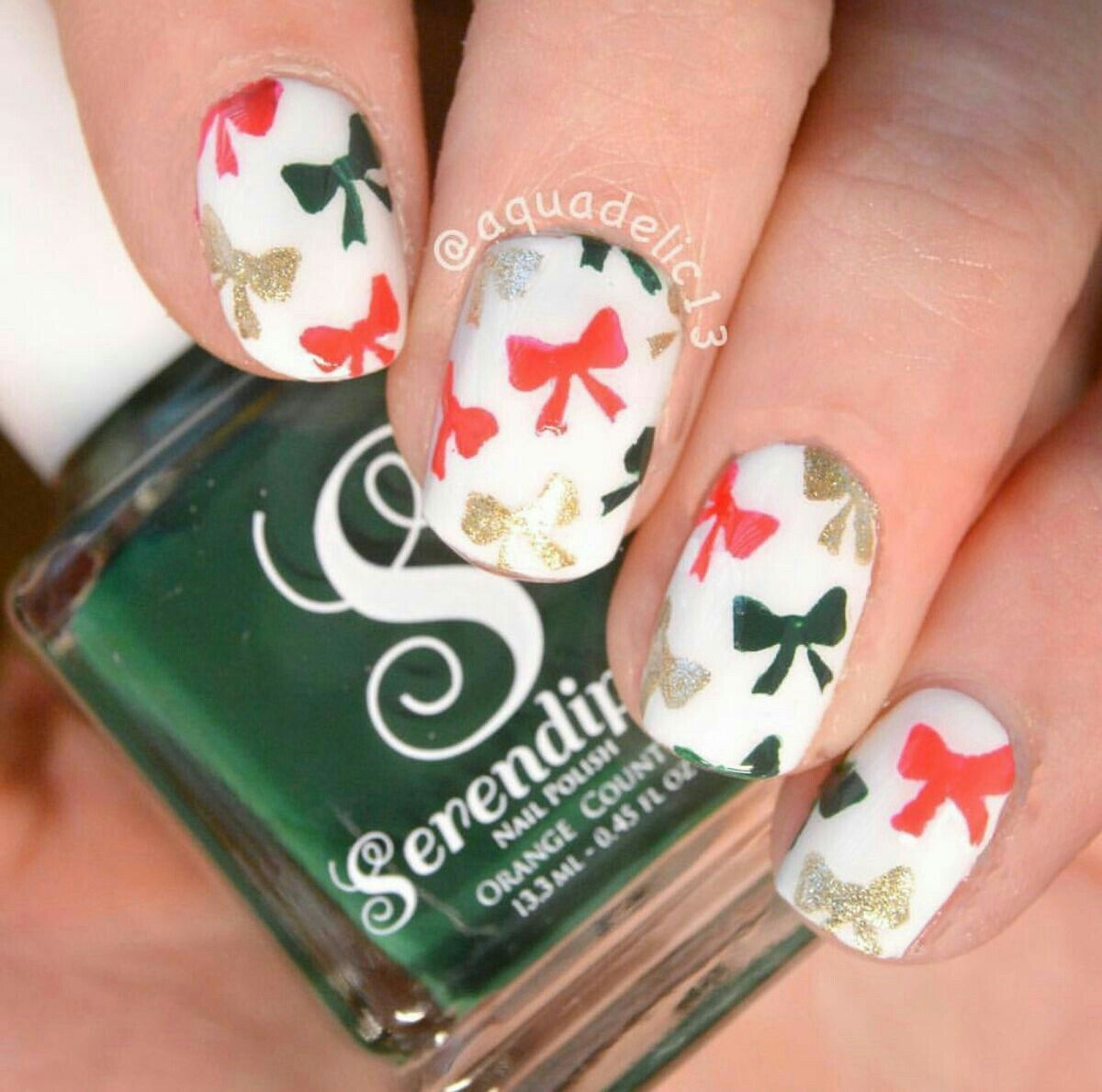 50 Beautiful Stylish And Trendy Nail Art Designs For Christmas