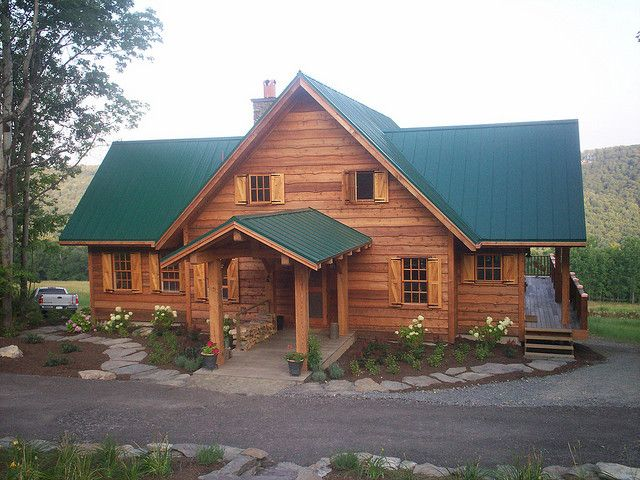 Adirondack Style By Pioneermillworks Via Flickr Rustic Houses Exterior Timber Frame Homes House Exterior