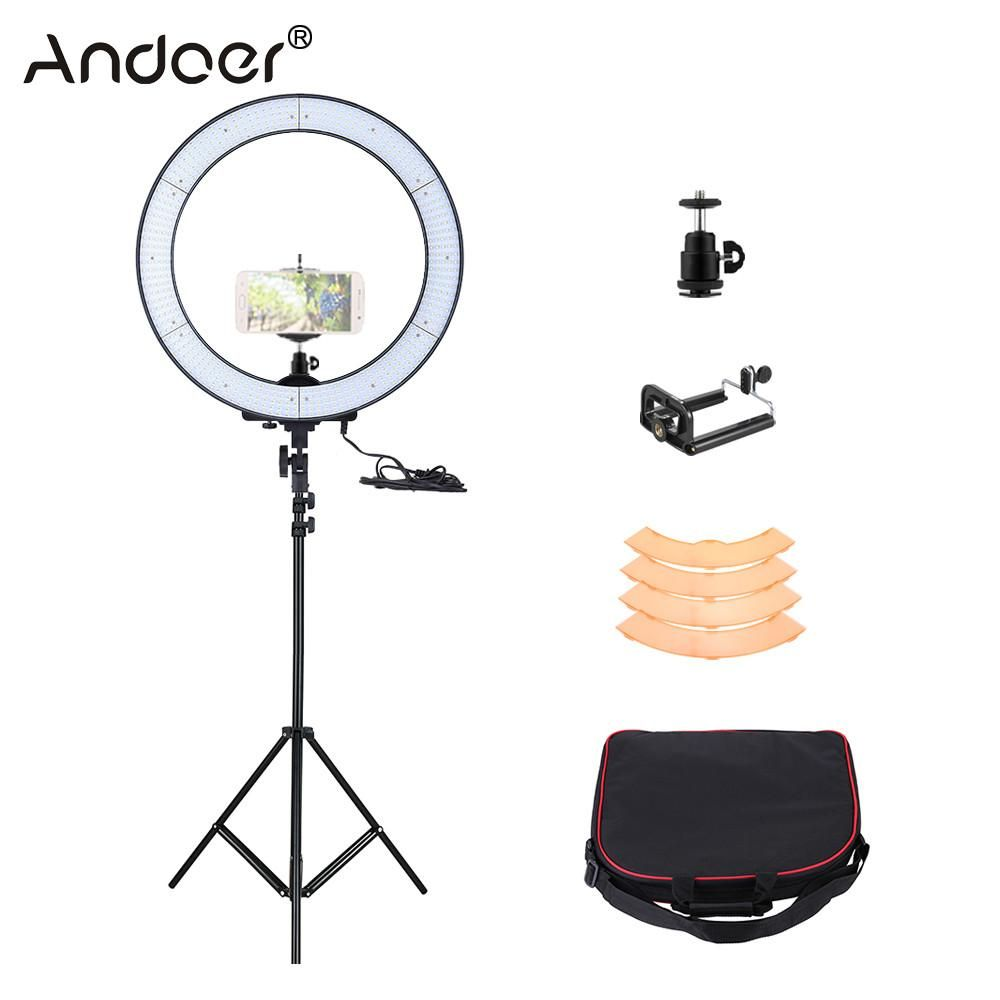 Andoer 600 Led Ring Light Kit Ring Lamp Led Ring Light Led Ring