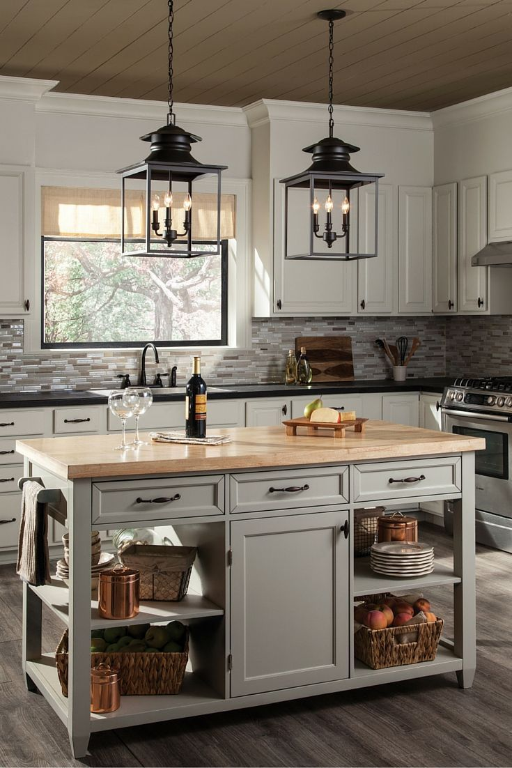 Bar height kitchen island  The charming Huntsville pendant light collection by Sea Gull