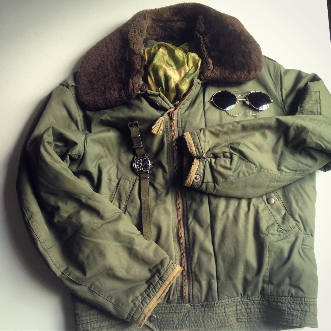 Indochina War French B15 Size Medium Worn And Repaired Frenchvintage Vintagemenswear B15 Frenc Outdoor Outfit Military Inspired Outfit Pilot Jacket [ 1080 x 1080 Pixel ]