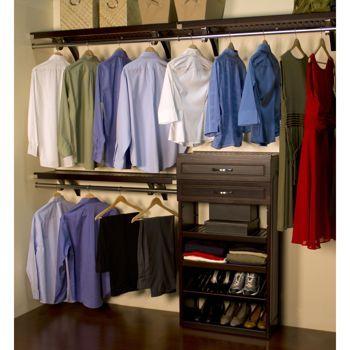 John Louis Home 12 Woodcrest Closet Organizer Ideas