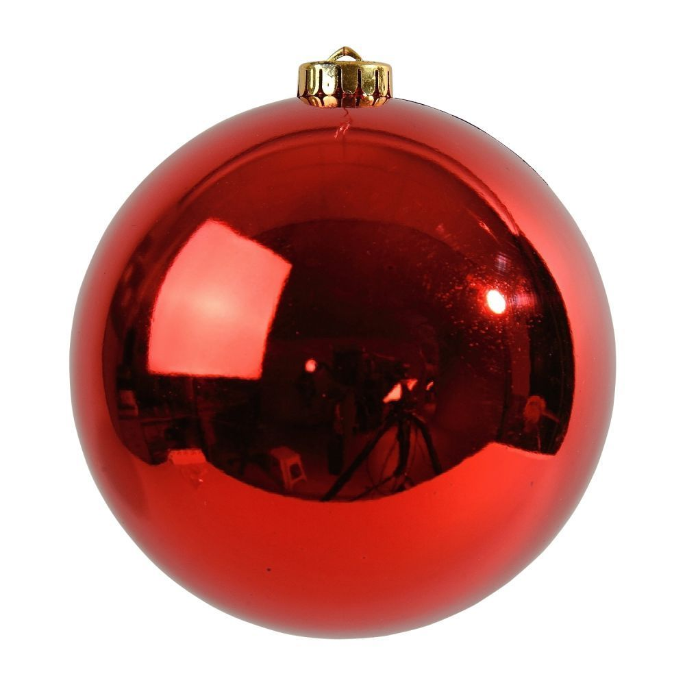 Boule de Noël brillante ROUGE XXL sur Izaneo | Decoration noel