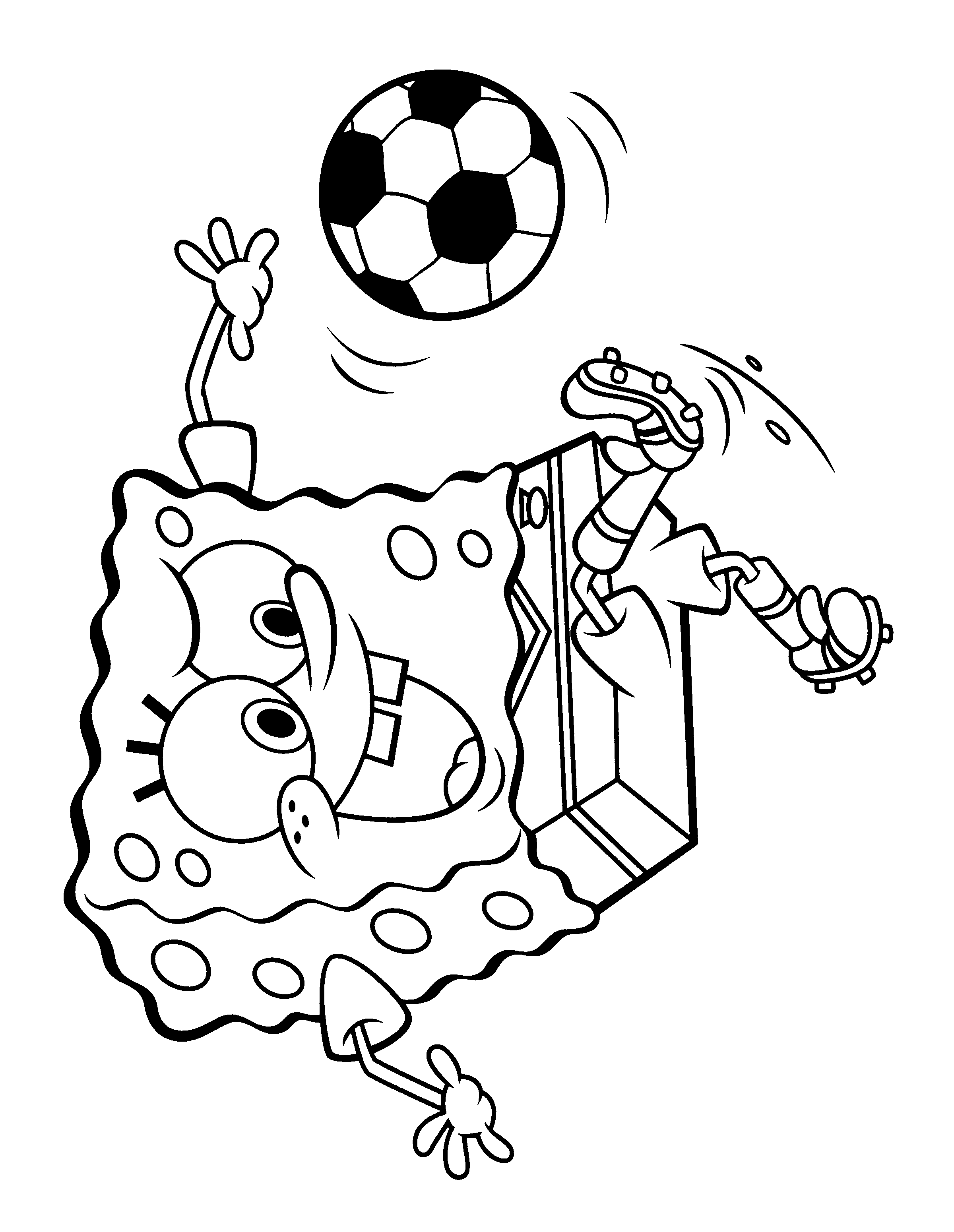 Free Spongebob Movie Coloring Page From All Over The World Animated Football