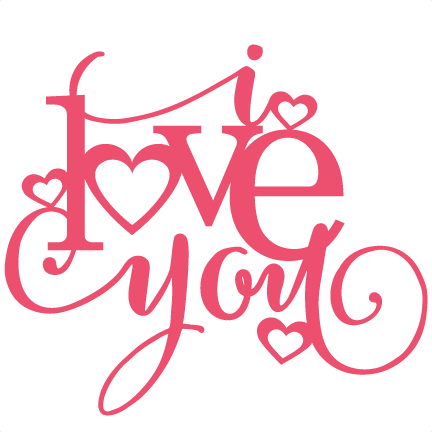 Download I love you title | Valentine decals, Love yourself quotes ...