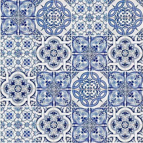 Papel De Parede Azulejos Azuis Azulejos Azulejos Portugueses