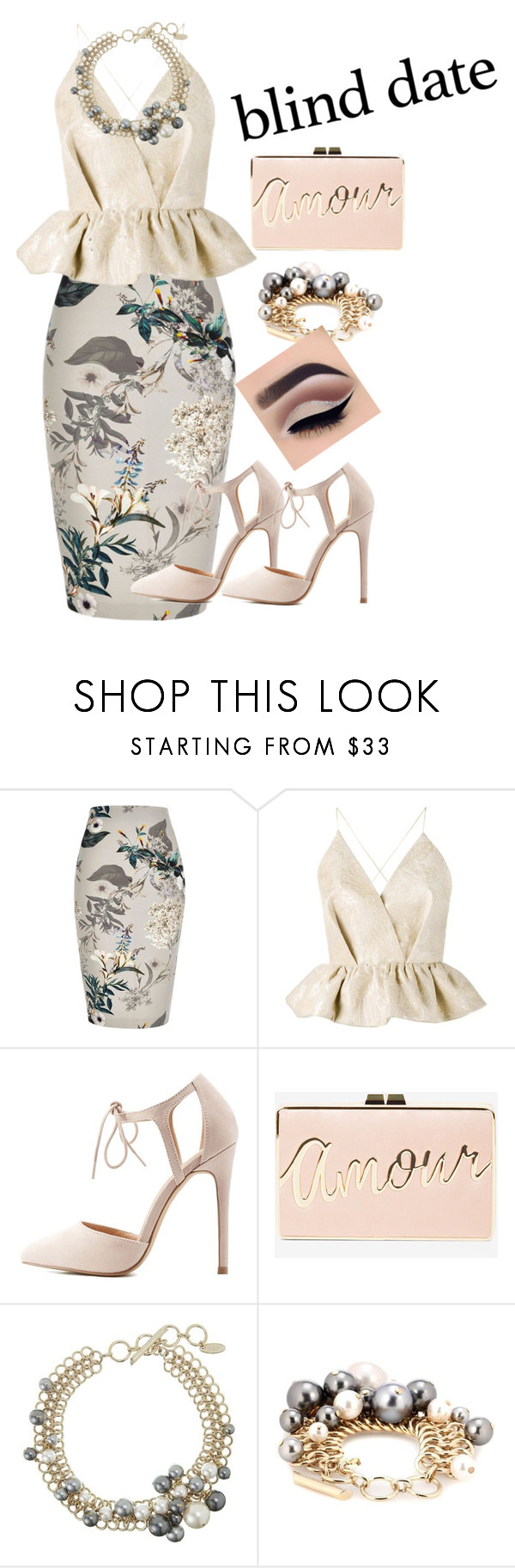 """""""date night"""" by mssleetahhbaby ❤ liked on Polyvore featuring River Island, Delpozo, Charlotte Russe, BCBGMAXAZRIA and Lanvin"""