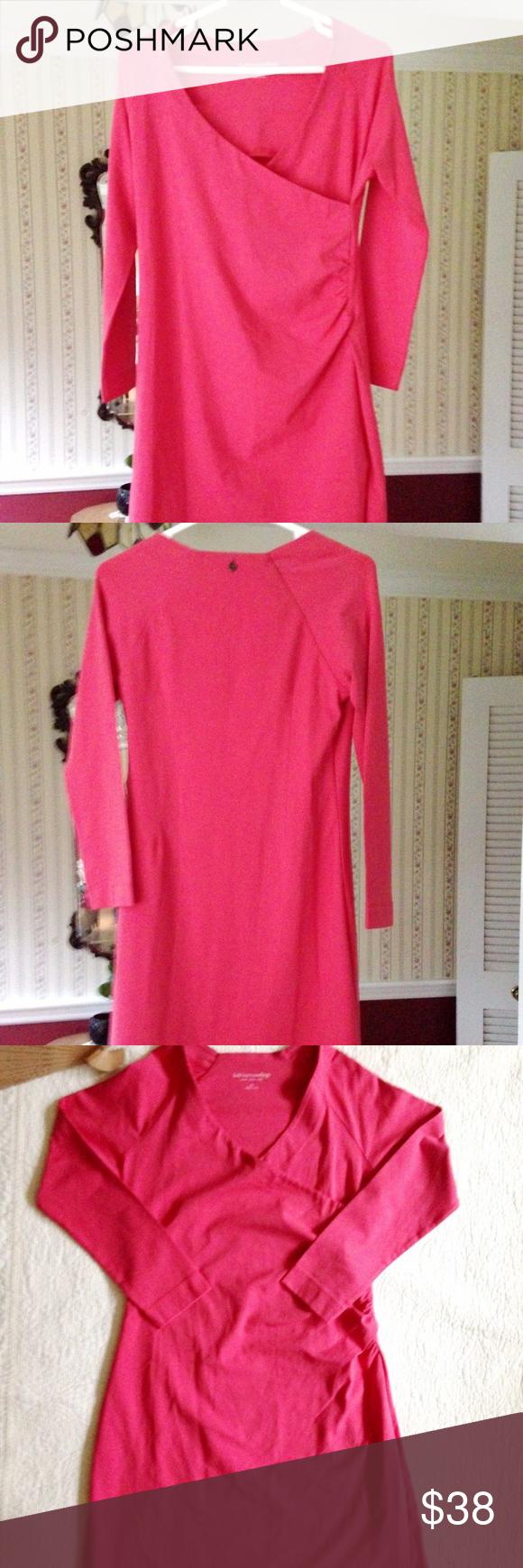 Soft Surroundings Dress C Faux Wrap Stretch Ps Size Runs Large Please See
