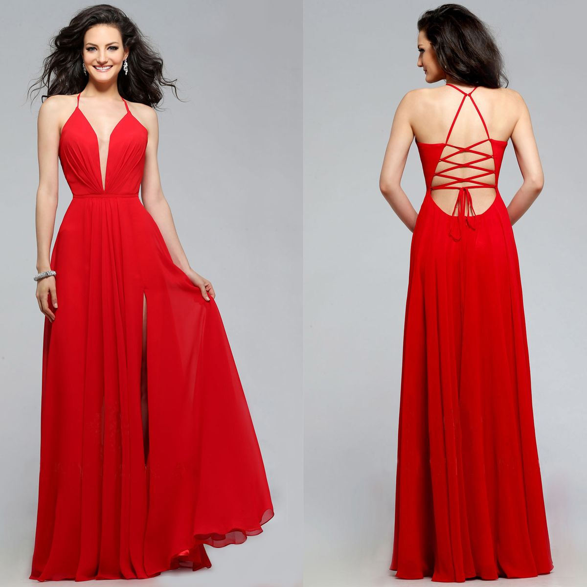 Faviana Low V-Neck Corset Back Prom Dress in 2019  9e494f077