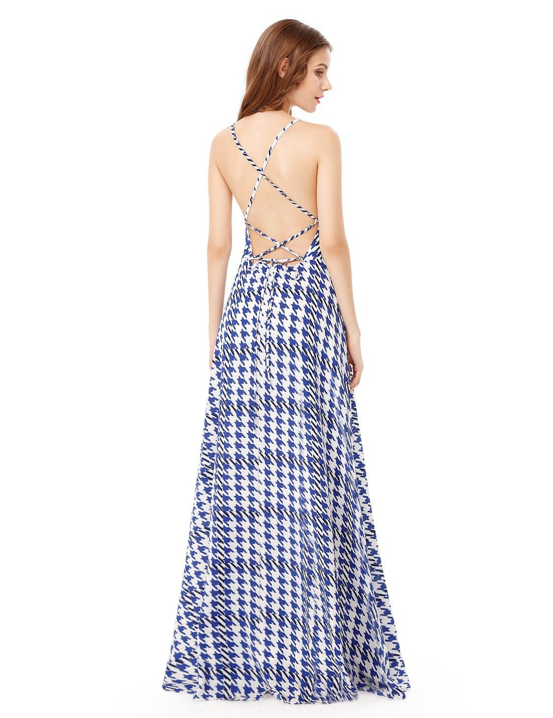 7e584bcf0b Alisa Pan Adjustable Cross Back Long Summer Maxi Dress | Ever-Pretty  #summerdress #summerstyle #printdress #EverPretty