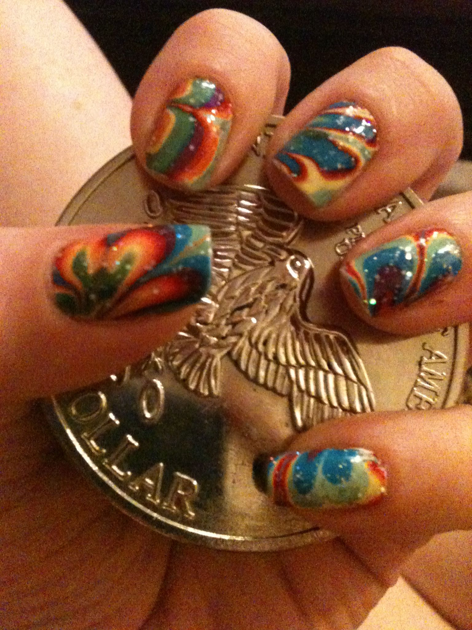water marble nails   My Style   Pinterest