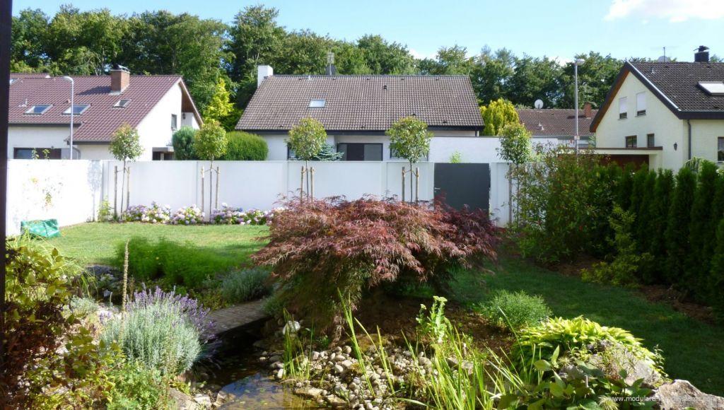 Garten Bauhausstil sichtschutz im bauhaus stil mit bepflanzung haus zaun