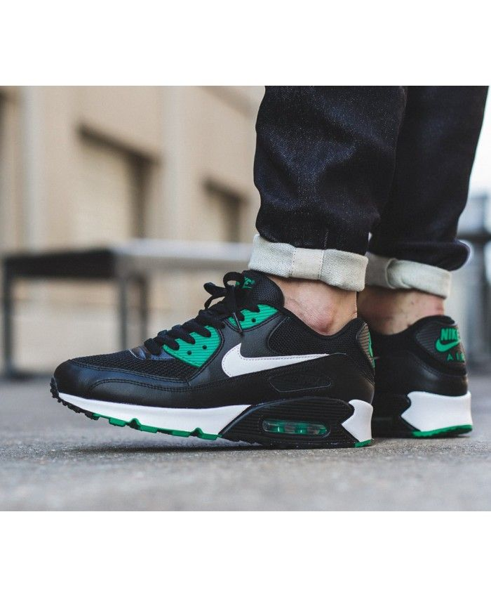 79d2e2fbfb4 Nike Air Max 90 Leather Lucid Green Black Trainer Very cool