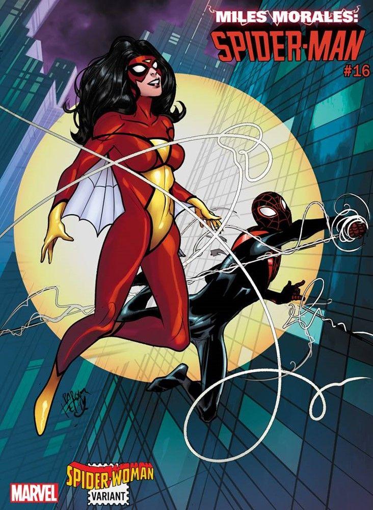 Miles morales spiderman 16 spiderwoman variant cover