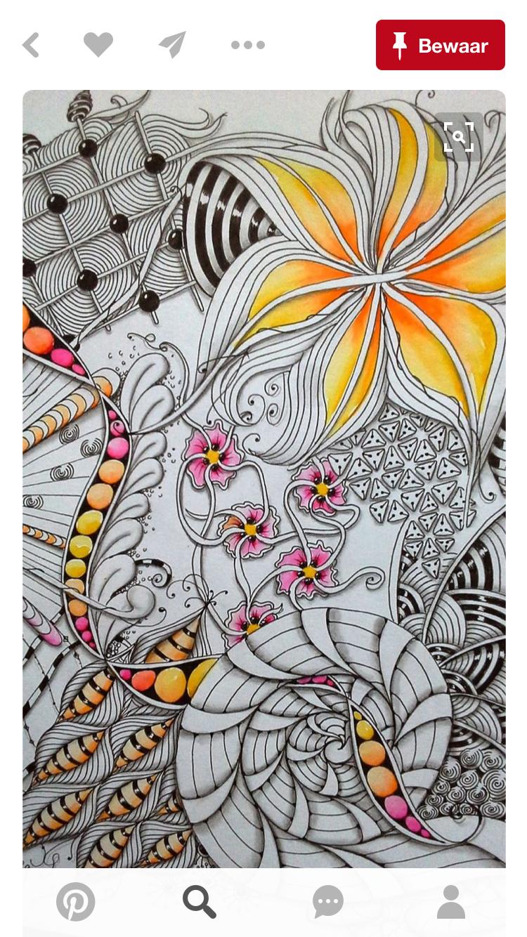 Zentangle and Color | Inspiring art | Pinterest | Zeichnen ...