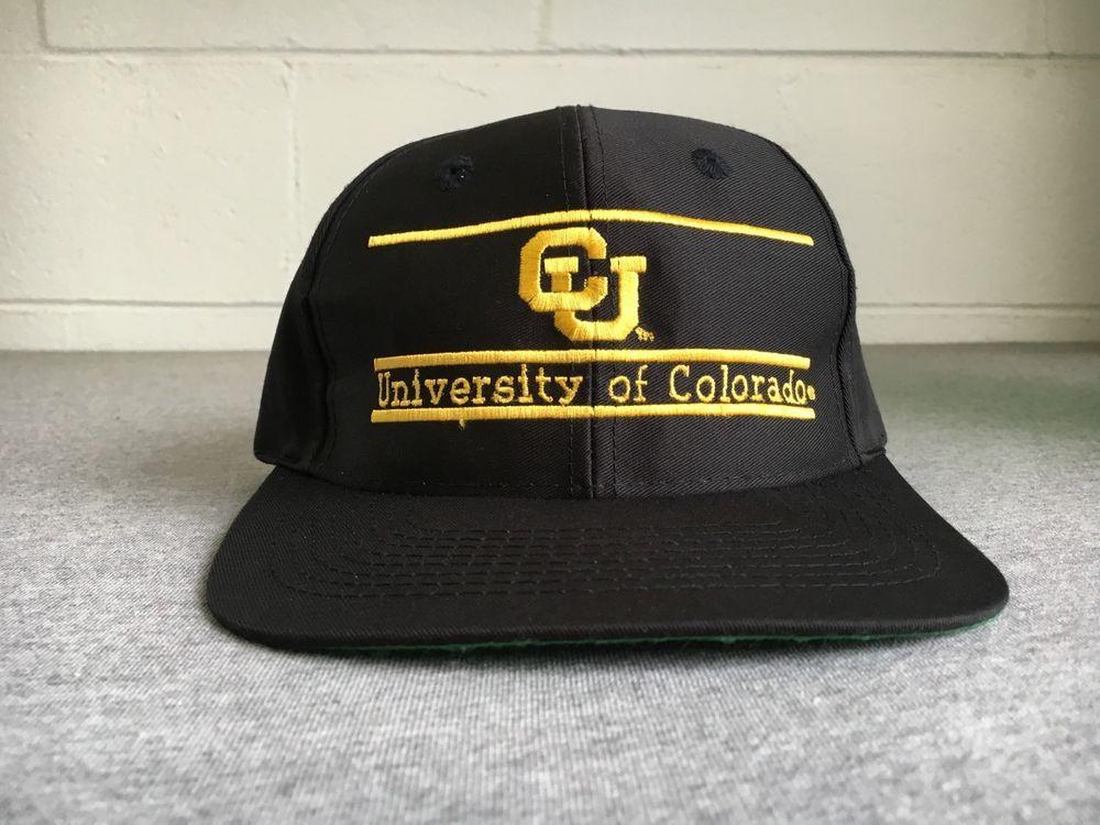 be9bb6abfe1 University Of Colorado Snapback Hat Vtg Baseball CU 3 Bar College Sports  NWOT  TheGame  BaseballCap  CU  Colorado