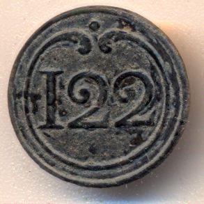 Bottone della giacca del 122 rgt. fanteria di linea francese