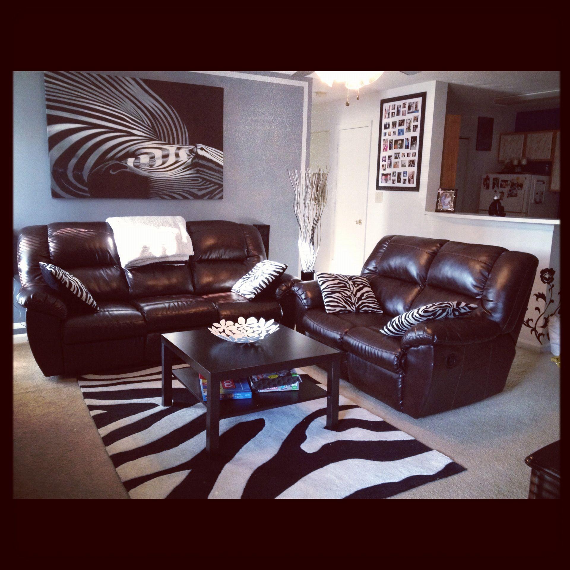 Zebra Living Room For The Home Zebra Living Room Living Room Living Room Decor