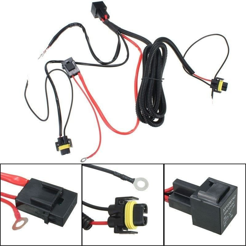 h11 880 relay wiring harness for hid conversion kit add on lights rh pinterest com