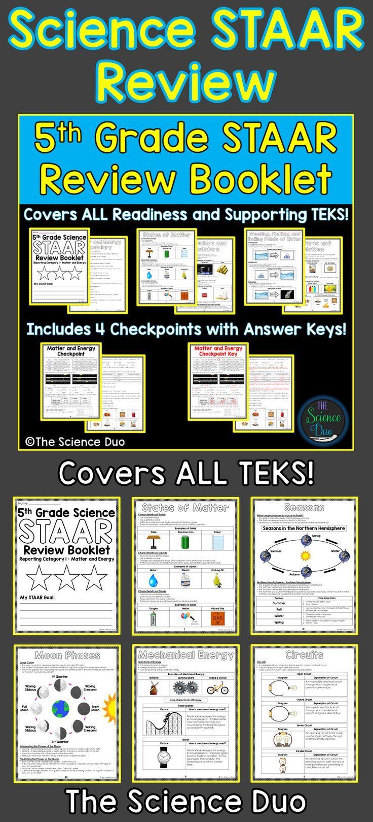 5th Grade Science STAAR Review Booklet Bundle   Science staar [ 1619 x 736 Pixel ]