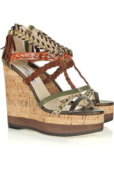 under $60 sale online discount fast delivery Jimmy Choo Multistrap Animal Print Sandals cheap shop offer sHx1nX
