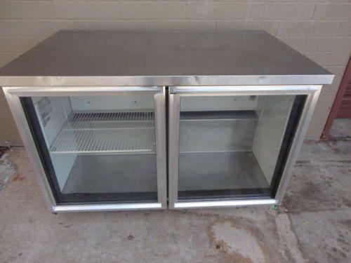 True Tuc 48g Bar Back Glass Door Refrigerator Er Cooler Mug