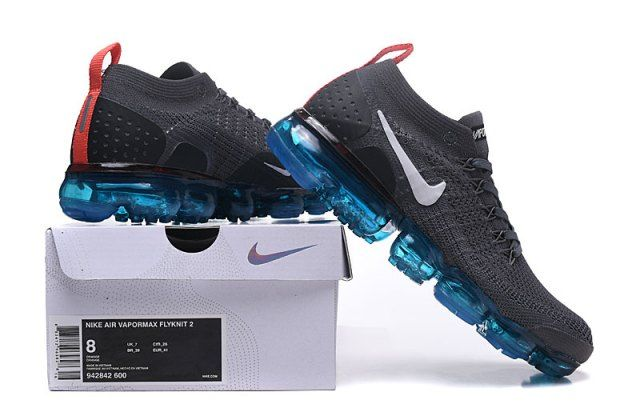 fd920dd6aa827 Nike Air VaporMax Flyknit 2 Black Blue Men s Running Shoes in 2019 ...