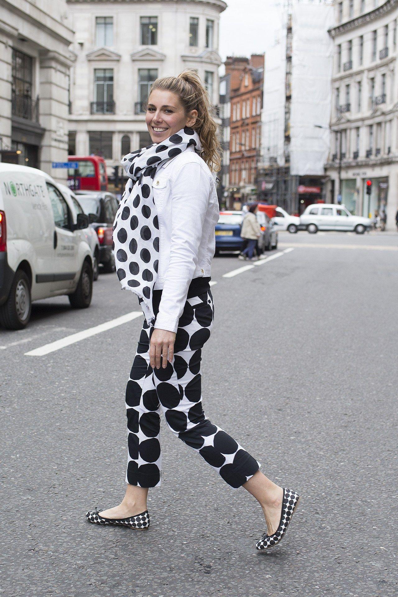 Marimekko for Banana Republic scarf, trousers and shoes as well as a Banana Republic jacket.