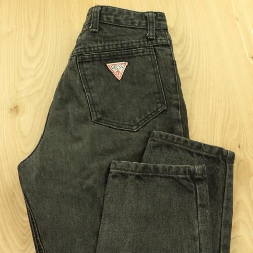 vtg-usa-GUESS-jeans-size-30-faded-black-80-039-s-90-039-s-georges-marciano-question-mark