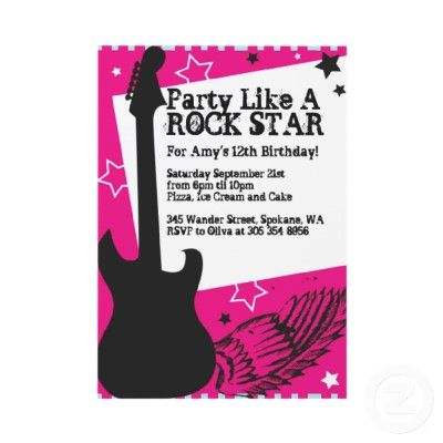 Doc Rockstar Party Invitations Rockstar Invitation Rockstar – Rockstar Party Invites