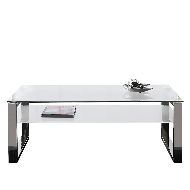 Mesa de centro plain con estructura de acero pulido y parte ...