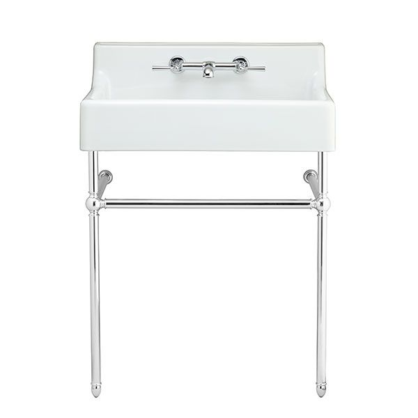 Oak Hill Console Sink Canvas White Polished Chrome American Standard
