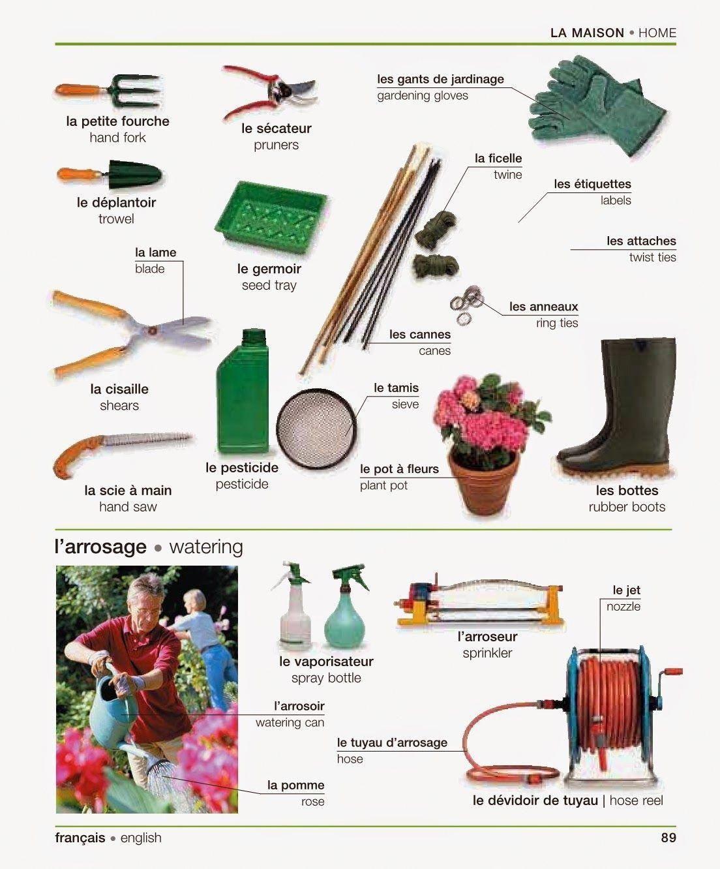 Gardening tools = le outils de jardin #homegardentools ...