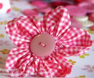 Perfect Posies - Make these cute fabric flowers for spring.