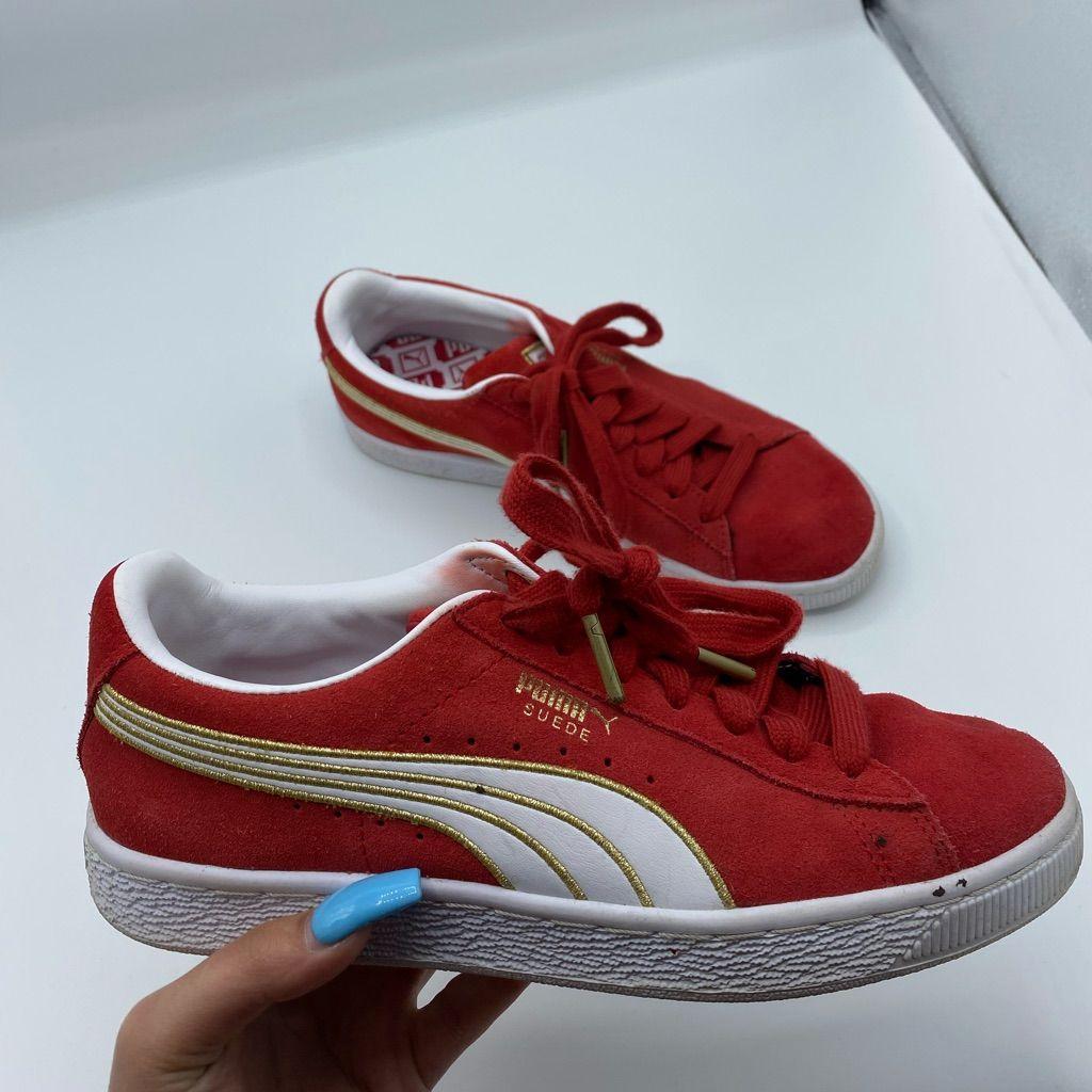 Puma Shoes   Red Puma Suede Shoes