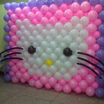 Mural de Hello Kitty Cumpleaos Pinterest Balloon backdrop