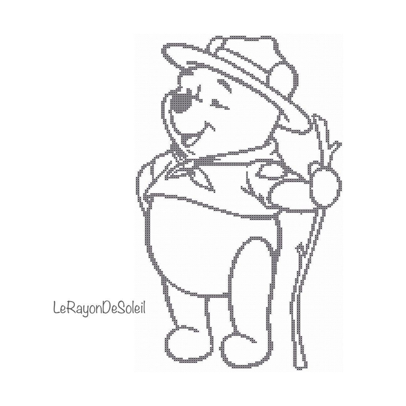 Cross stitch pattern Winnie the Pooh scout Disney nursery