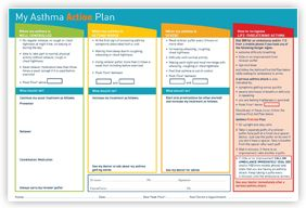 Asthma Action Plan  Large  Asthma Health Tips Always Consult