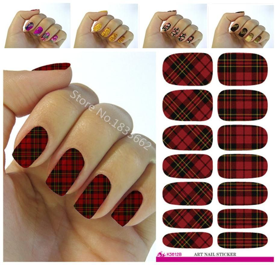 Visit to Buy] 2016 Fashion nail stickers plant color nail art design ...