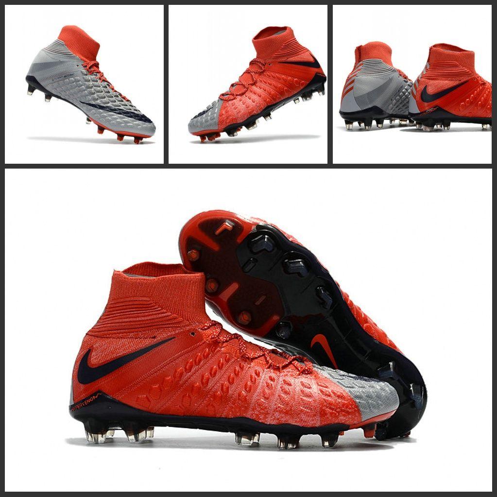super popular 9d5f0 7d376 Scarpini Calcio Nike Hypervenom Phantom 3 DF FG ACC Grigio ...