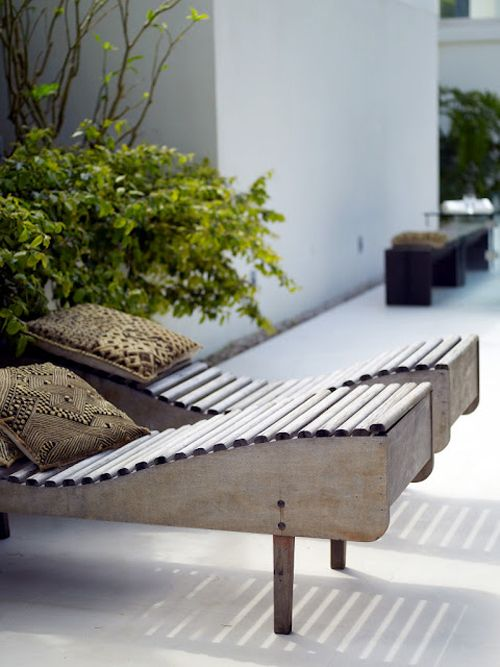 Love These Sun Lounges Outdoor Spaces Outdoor Areas Outdoor