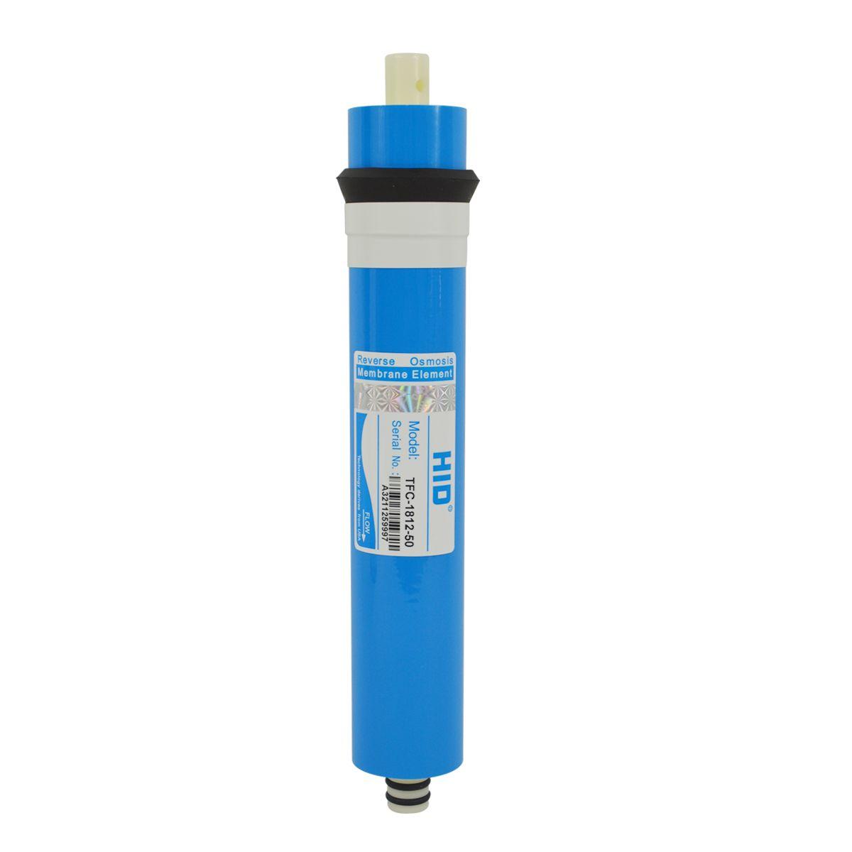 Membrane Cartridge Reverse Osmosis Filtration Water Filter Housing 1812-75GPD