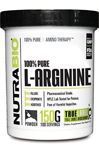 Cheap NutraBio 100% Pure L-Arginine Powder