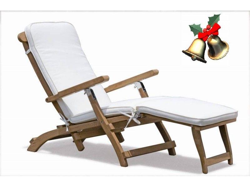 Raffles Premium Teak Steamer Chair With Cushion Chair Domain Australia Furniture