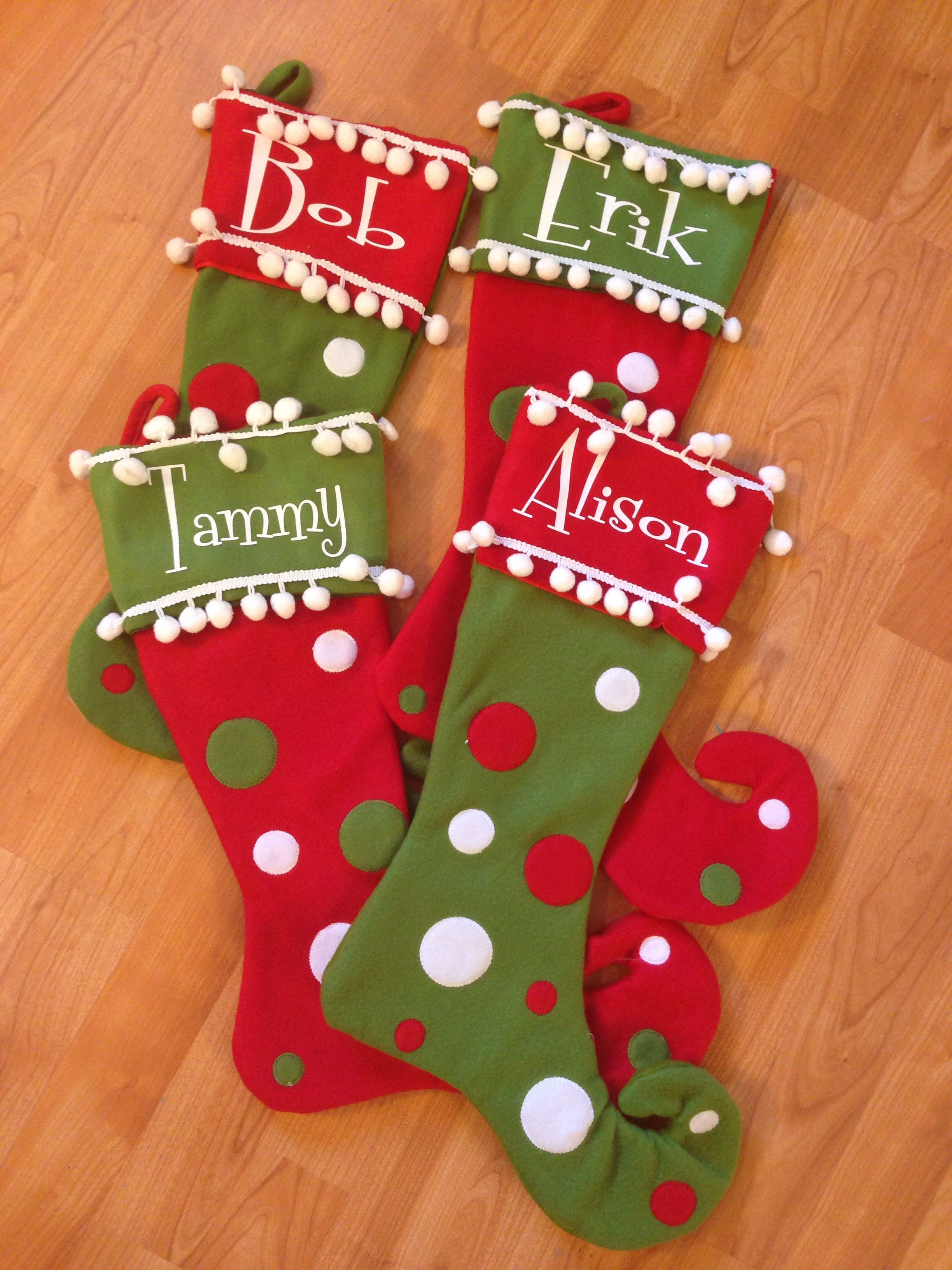 got the stockings 1 2 off at hobby lobby added our names in white