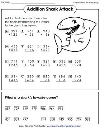 Worksheet Addition No Carrying With Images Math Riddles