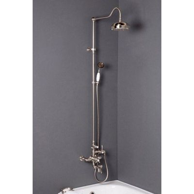 Exposed Thermostatic Shower W Tub Filler 54 Inch Riser Strom Plumbing With Images Shower Tub Tub Filler Shower Fixtures