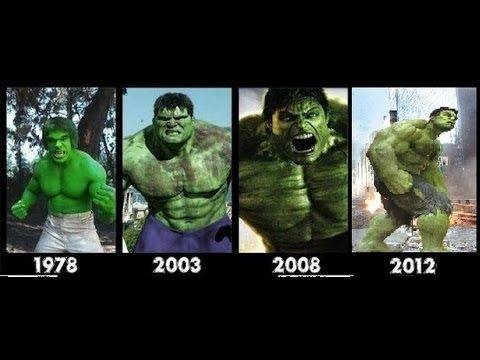 Hulk transformation Movies -1978-2003-2008-2012- [hulk