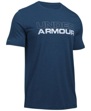 Under Armour Men's Wordmark T-Shirt - Blue XXL
