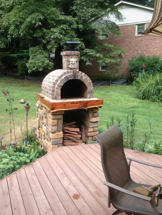 Pizzaofen bauen - Anleitung und Fotos - DIY, Garten, Haus \ Garten - gartenkamin bauen ideen terrasse